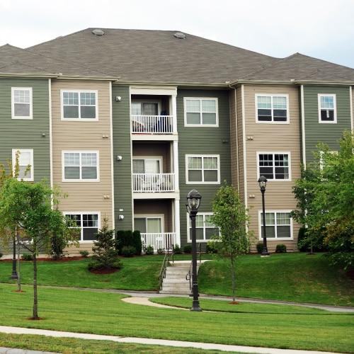 Commercial apartment building exterior